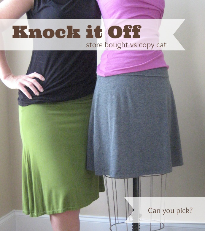 Learn how to knock off your favorite skirt. The Sewing Loft