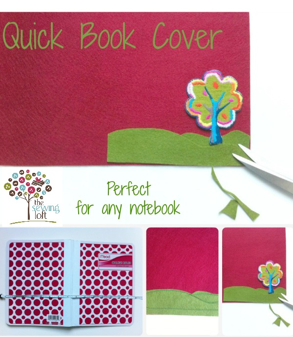 quick and easy notebook cover. The Sewing Loft