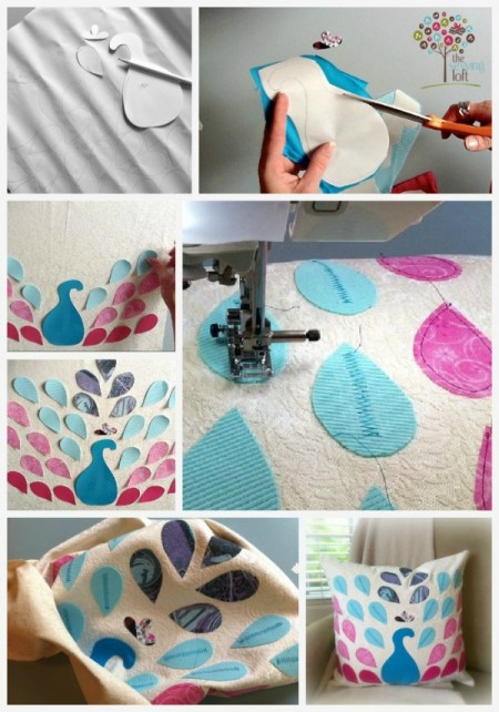 Peacock Pillow How To -TheSewingLoft