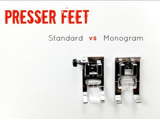 Presser Feet- Standard vs Monogram -The Sewing Loft