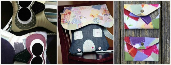 Projects created with the Scrap Fabric Technique -The Sewing Loft