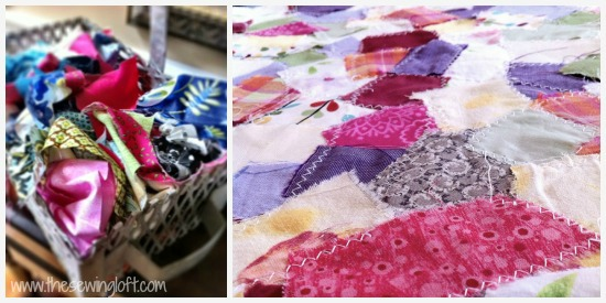 from scrap basket to yardage. easy technique The Sewing Loft #diy #recycle #upcycle