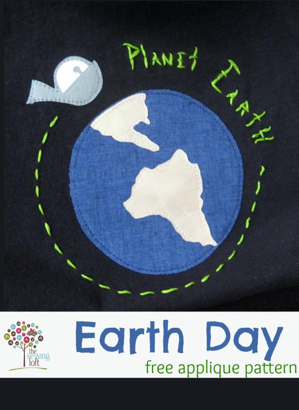 Earth Day Appliqué Design | The Sewing Loft