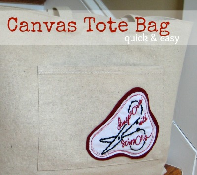 Quick & Easy Canvas Tote Bag | The Sewing Loft