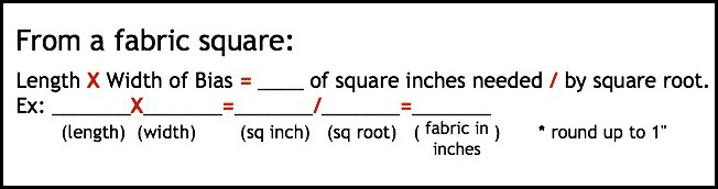 Formula for Continuous Bias from a Square   The Sewing Loft