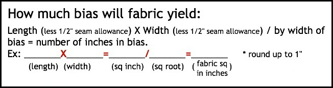Calculating fabric consumption for bias   The Sewing Loft