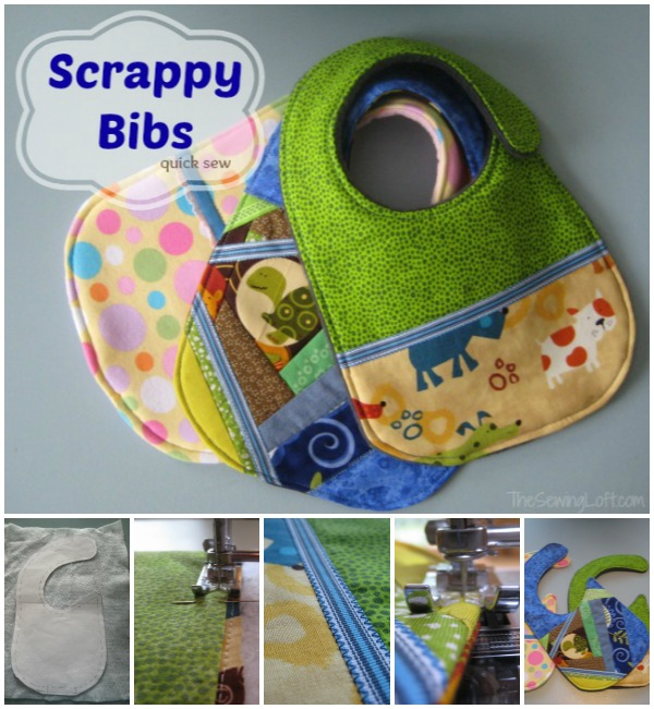 Baby bibs made with scraps   The Sewing Loft
