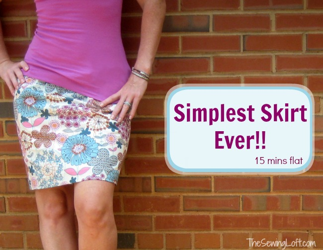 Simple Skirt   The Sewing Loft #sewing