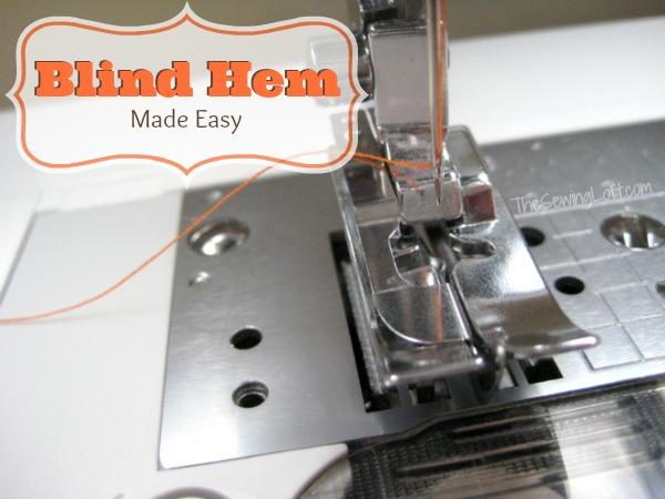 Blind Hem Stitching | The Sewing Loft