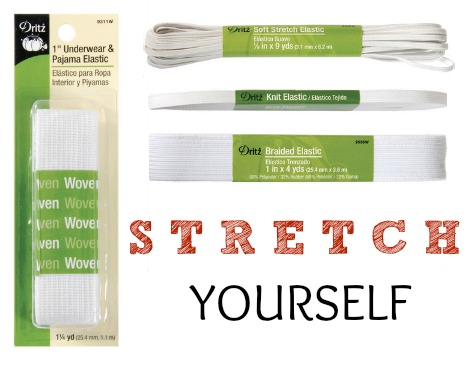 Learn about elastic options during National Sewing Month on The Sewing Loft
