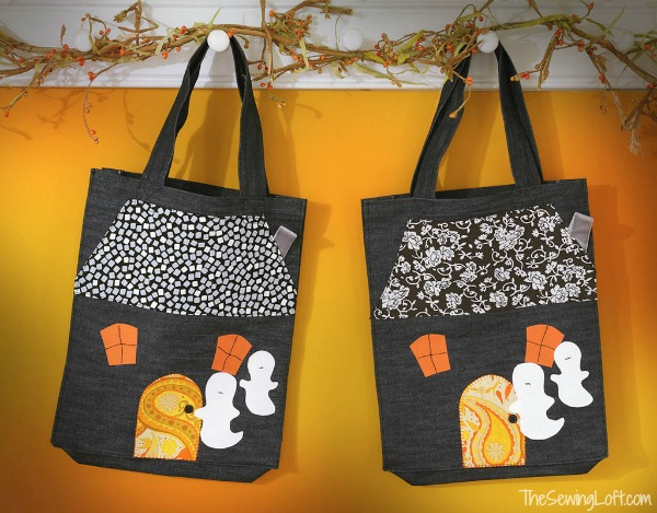 Haunted House Tote Bag Pattern by The Sewing Loft