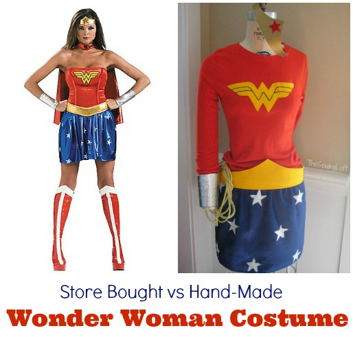 Store bought vs handmade - Wonder Woman Costume DIY by The Sewing Loft