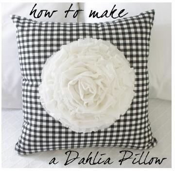 How to make a Dahlia Pillow