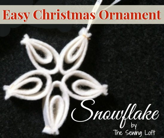 Easy Christmas ornament s are perfect for decorating the tree and presents. By The Sewing Loft #holidaydecor #Christmas #ornament