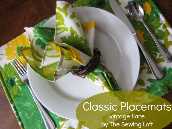 Learn how to make classic placemats.  The Sewing Loft