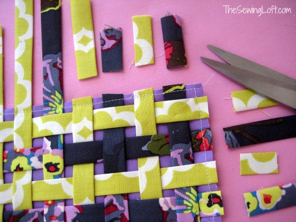 Fabric weaving- Learn how to create fabric with a simple basket weaving technique. The Sewing Loft