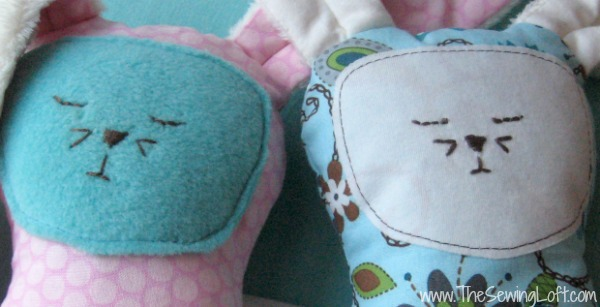 Simple hand embroidery gives this free bunny pattern that hand made touch. The Sewing Loft #bunny #Easter