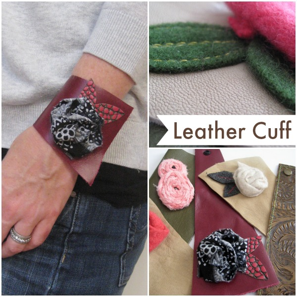 Don't be afraid of alternative fabrics. This leather cuff bracelet is easy to make. The Sewing Loft
