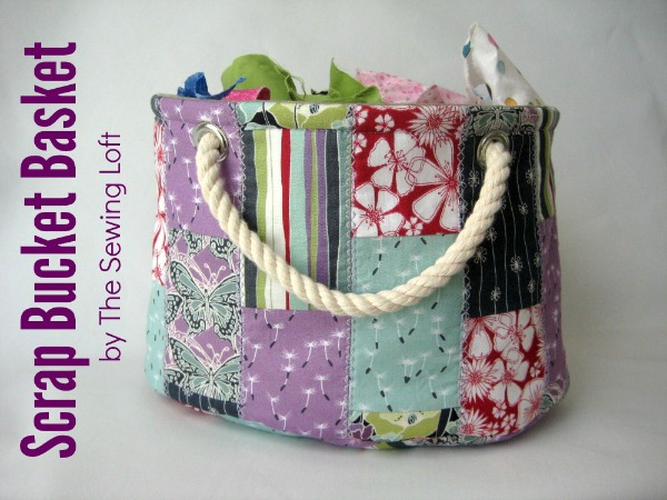 This easy to make bucket pattern is perfect for storing all your scrap bits and so much more! The Sewing Loft