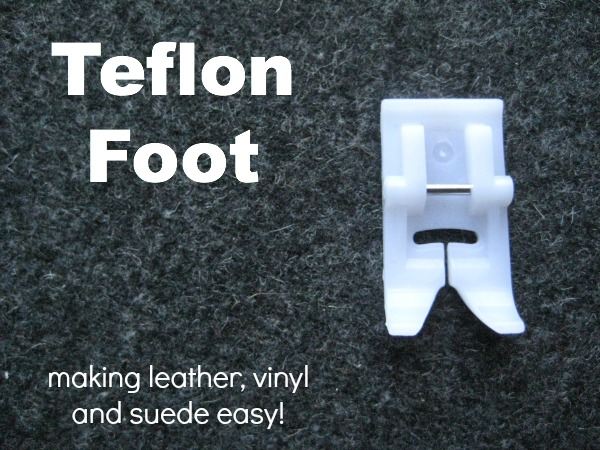 The Teflon Coated Foot will make sewing on leather, vinyl and suede a dream. The Sewing Loft