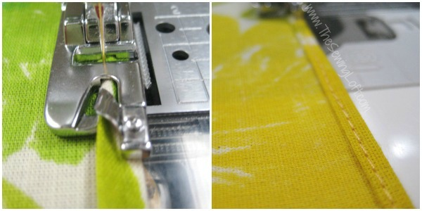 Basic rolled hem is perfect for napkins and other narrow hemmed projects. The Sewing Loft