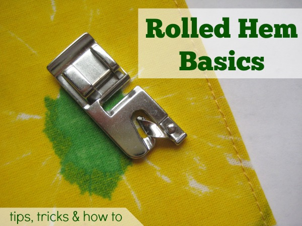 Basic rolled hem is perfect for napkins. The Sewing Loft