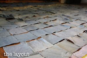 Quilt Puzzle Denim Square Layout