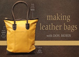 Learn how to make leather bags with this video class on Craftsy.