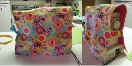 Sewing machine covers protect your machine from dirt and dust.  Check out these easy to make covers and personalize your space.