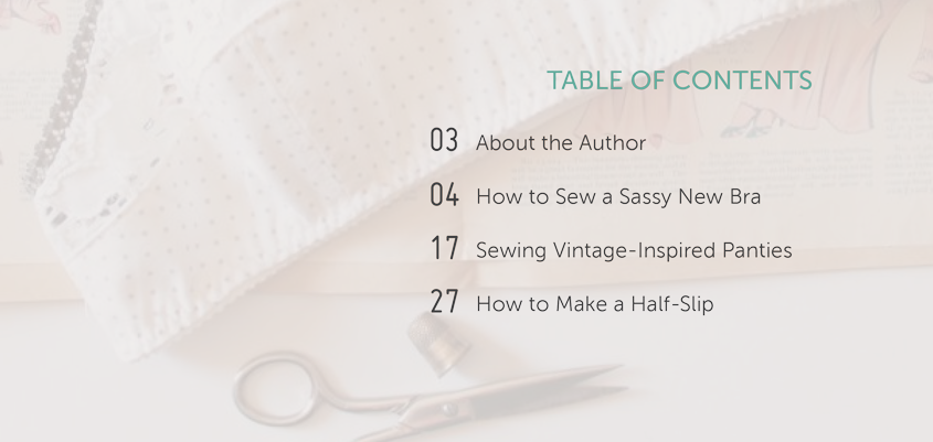 How to have success when sewing lingerie