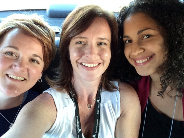 Quick cab ride with Vanessa and Becky at quilt market.