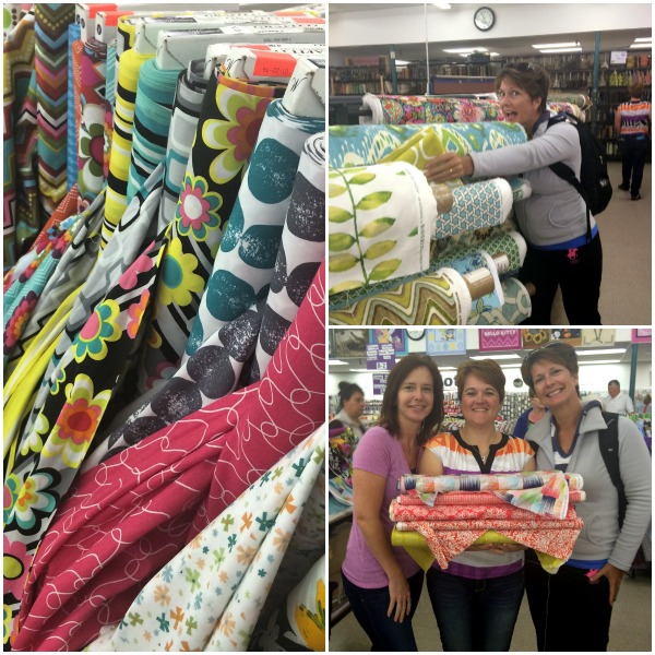 Fabric Shopping with sewing peeps. The Sewing Loft