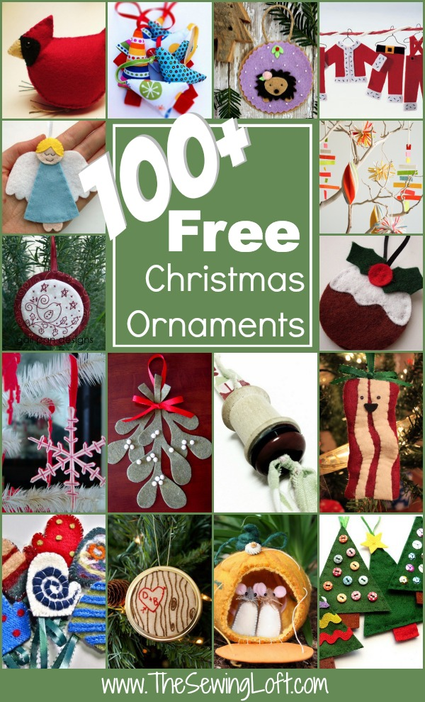 100+ Christmas Ornaments Patterns Rounded Up in one place. The Sewing Loft