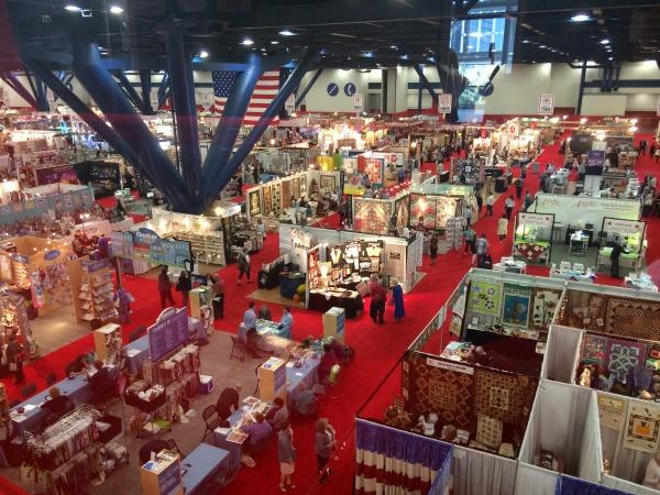 Birds eye view of quilt market 2014. It is massive!