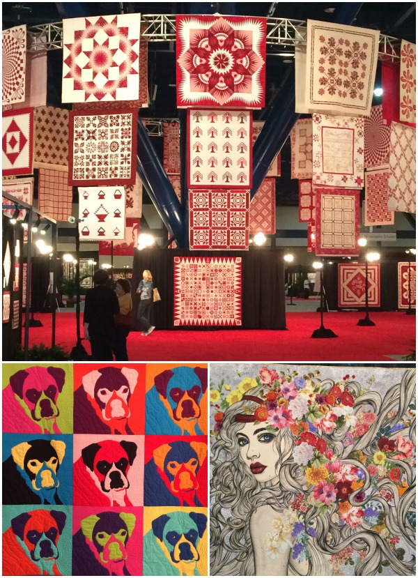 Quilts on display at quilt market fall 2014. The Sewing Loft