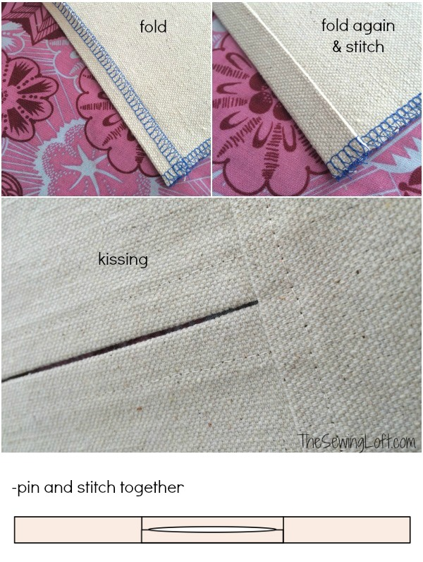 Join side panel pieces of sewing machine cover together.  The Sewing Loft