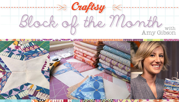 2012 Block of the Month Free Craftsy Class is one of many Free on line sewing classes at Craftsy
