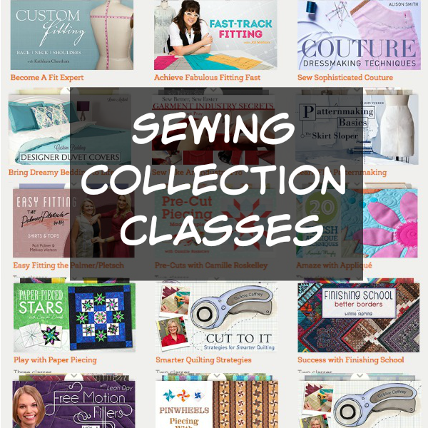 Learn a new skill with these online sewing collection classes from Craftsy.