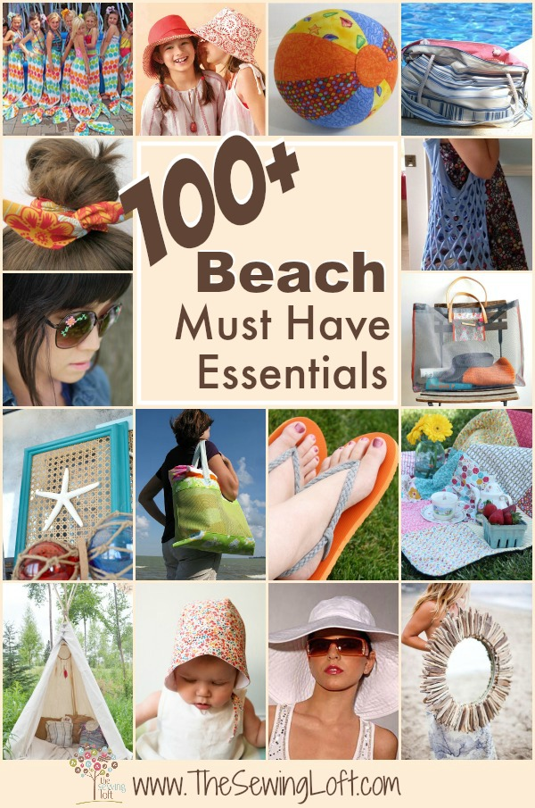 100+ Beach Must Haves. These patterns are easy to sew for any skill level. Includes a wide range of styles including: cover ups, games, bags and more.