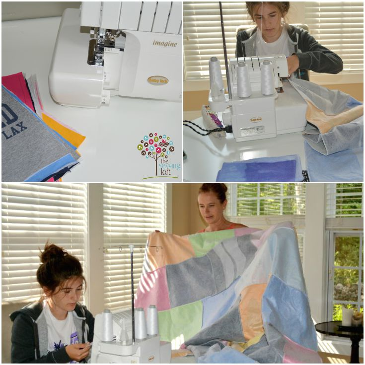 Lighten up your drawer space with an easy to make t shirt quilt. Learn how on The Sewing Loft.