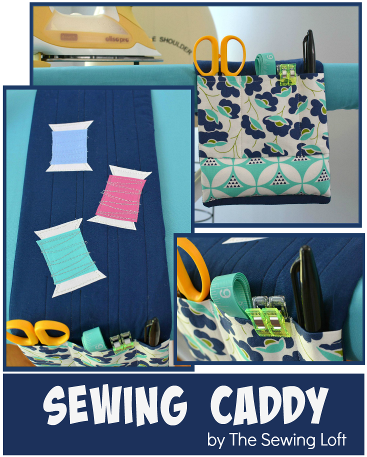 Come join me in 2016 and made this sewing caddy at the Quilting Adventures Online Retreat | The Sewing Loft