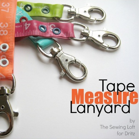 The flexible tape measure is a valuable tool in your sewing basket. The Sewing Loft