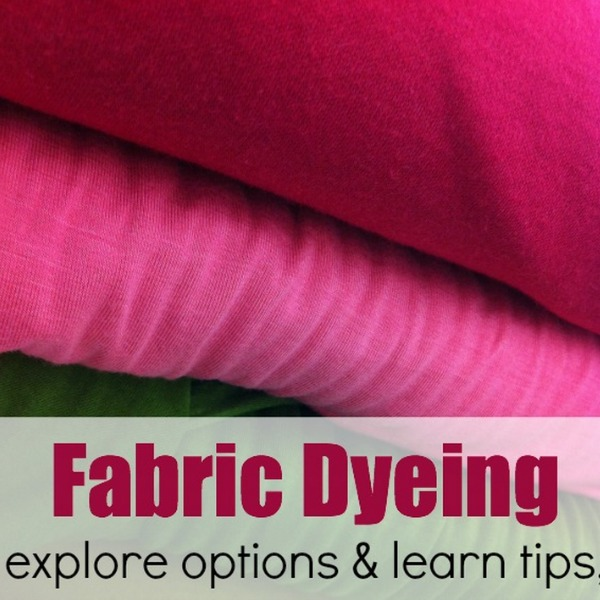 Let's talk fabric dyeing tips and techniques. Mini series on The Sewing Loft
