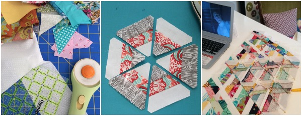 It's time to bust out this triangle quilt with the help of some Simmer & Sew time. The Sewing Loft