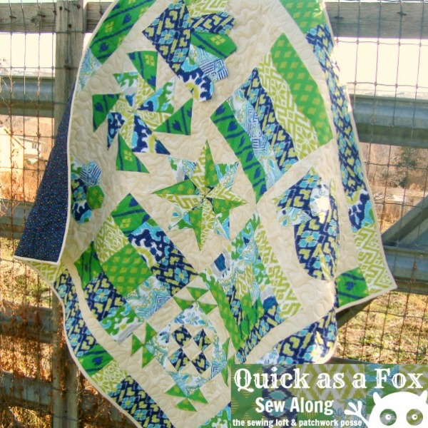 Block of the Month - Quick as a Fox series on thesewingloftblog.com