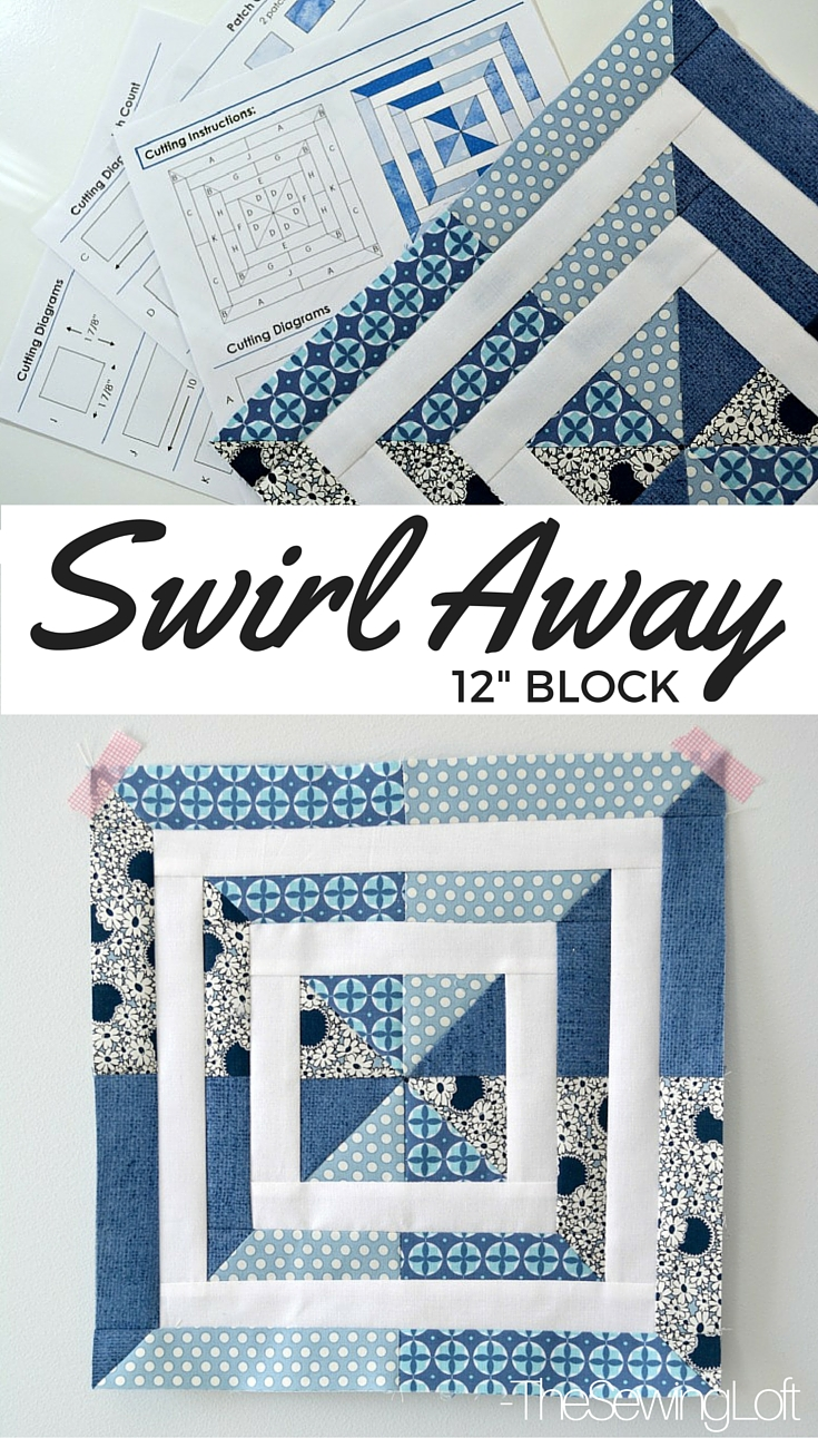 I'm excited to be part of the Aurifil Design Team 2016. You can grab my free Swirl Away Block pattern here and learn more about our upcoming year together. The Sewing Loft