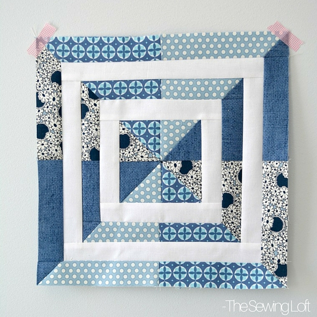 I'm excited to be part of the Aurifil Design Team 2016. You can grab my Swirl Away Block pattern here and learn more about our upcoming year together. The Sewing Loft