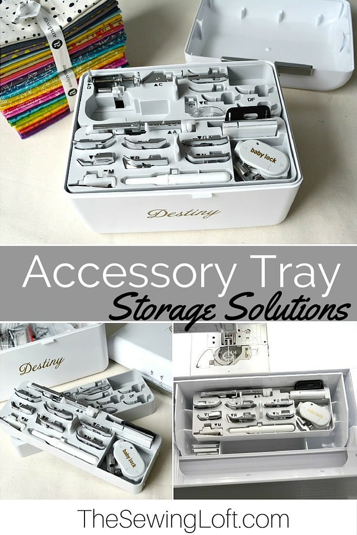 Holy Cow, I had no idea that these trays could help me keep the hidden storage compartment neat and tidy. Such a great tip from The Sewing Loft!