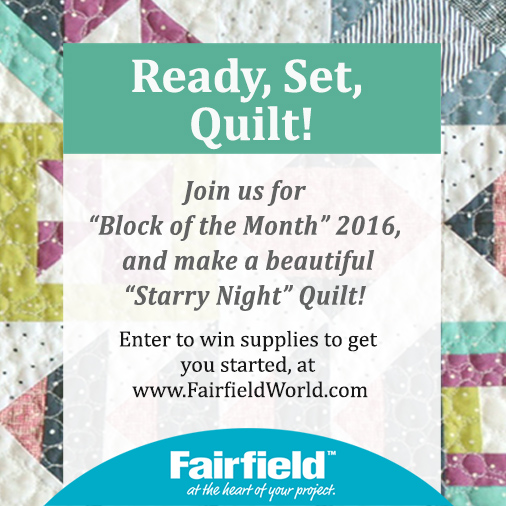 Enter to win the Starry Night Sampler giveaway with The Sewing Loft & Fairfield World.