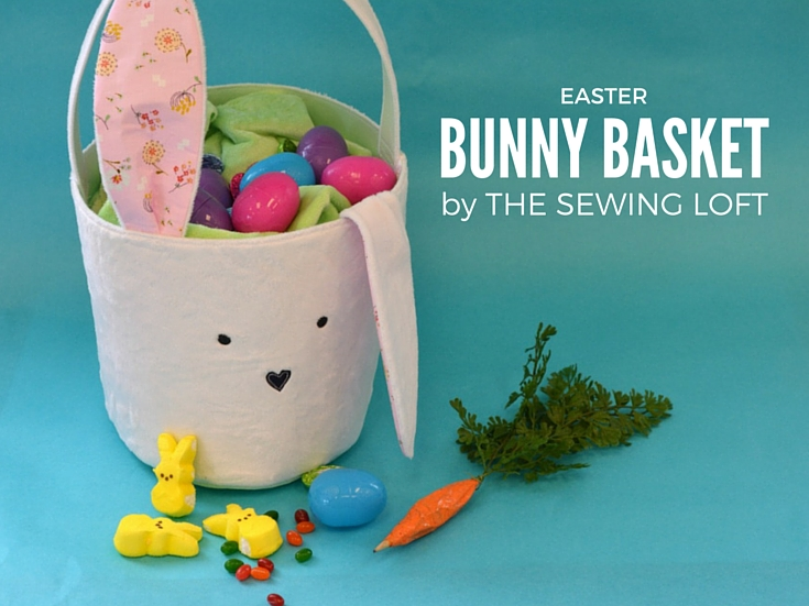 Tuck your colored eggs into this cute Easter Bunny Basket. Step by step tutorial includes FREE pattern. The Sewing Loft